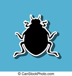 beetle silhouette design, vector illustration eps10 graphic