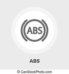 ABS flat icon - ABS icon vector Flat icon isolated on the...