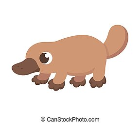 Cute cartoon platypus - Cartoon platypus illustration. Cute...