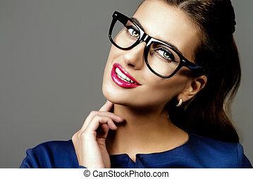 business style glasses - Optics style Portrait of a...