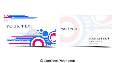 business card set,