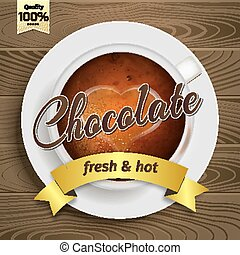Cup of hot chocolate - Premium hot Cup of chocolate vector...