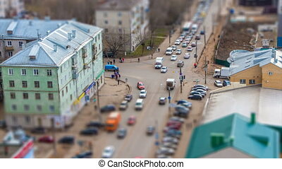Crossroadsand street in the city - Crossroads and street in...
