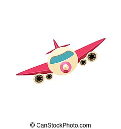 Jet Toy Aircraft Icon - Jet Toy Aircraft Glossy Vector...