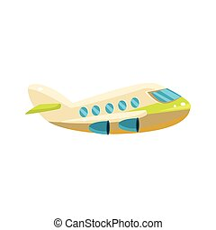 Commercial Plane Toy Aircraft Icon - Commercial Plane Toy...