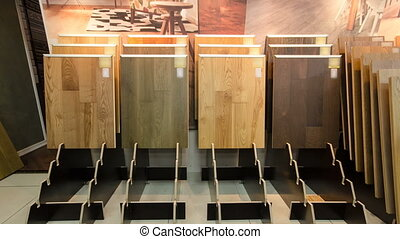 Top samples of various color palette - wooden floor...