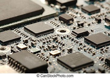 Computer Circuit Board - Circuit board with electronic...