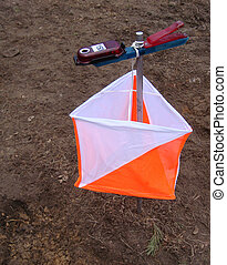 sport orienteering - prism for competitions to sport...