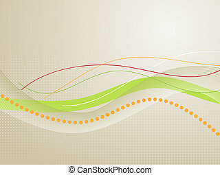 Wavy Lines - abstract background, symbolic of research,...