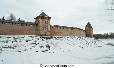 Old towers of Novgorod Kremlin, VNovgorod, Russia - Old...