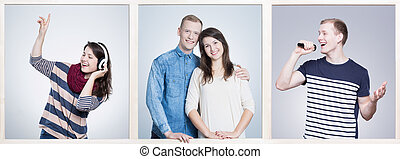 Common interests can lead to love - Pretty young woman with...