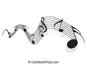 Music notes for design use, illustration