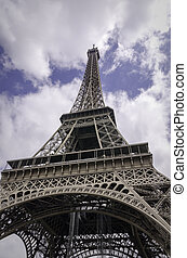 Eiffel Tower Paris Architecture - A wide angle view looking...
