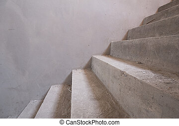 staircase concrete structure in residential house building,...