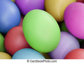 multi color eggs, for easter holiday - multi fresh color...