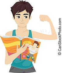 Teen Guy Magazine Muscle
