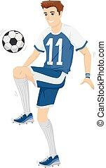 Man Soccer Ball