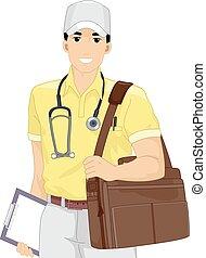 Man Doctor Medical Service