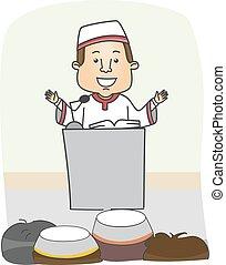 Man Islam Preach - Illustration of an Imam Preaching in...