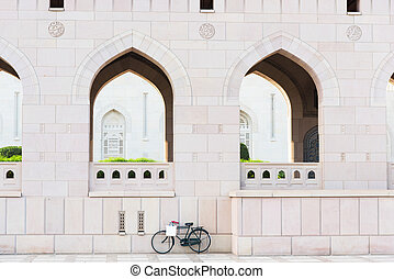 Sultan Qaboos Grand Mosque - Bicycle parked outside Sultan...