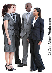 International young business people standing