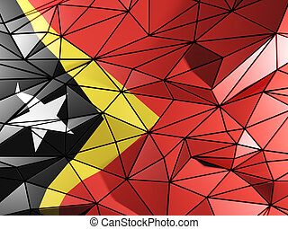 Triangle background with flag of east timor