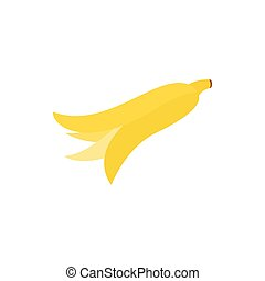 Banana peel icon, isometric 3d style - Banana peel icon in...