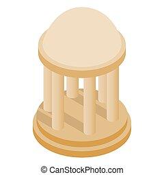 Rotunda icon, isometric 3d style