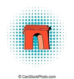 Triumphal arch, Paris icon, comics style - Triumphal arch,...