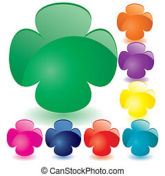 Set of unusual multicolored buttons, part 7, vector illustration