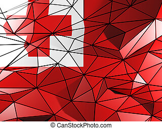 Triangle background with flag of tonga