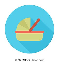 Cradle flat icon - Cradle icon Flat vector related icon for...