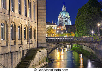 Hannover - Image of Hannover with City Hall in the...