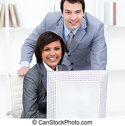 Businesswoman With Her Manager - Attractive businesswoman...