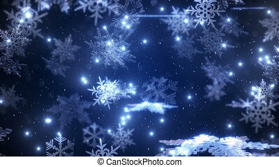 Animation of the falling snowflakes - animation of the...