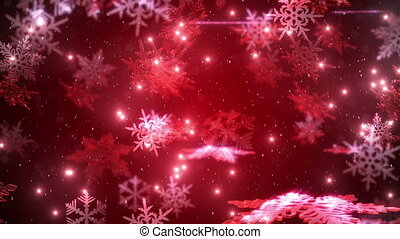 Christmas background with snowflakes and a falling snow with...