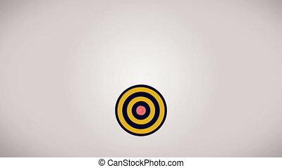 """""""Hitting the target"""" - """"Various weapons hitting target...."""