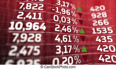 """Stock market trading screen"" - ""Stock market trading screen..."