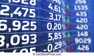 """Table of stock exchange market indices animation. "" -..."