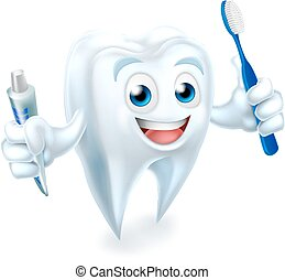 Tooth Mascot - A cartoon cute tooth dental dentists mascot...