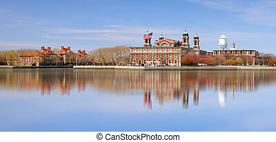 Ellis Island in New York harbor