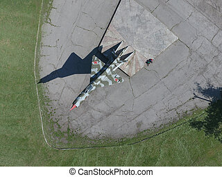 Monument to the fighter aircraft Monument of military memory...