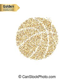 Gold glitter vector object - Gold glitter vector icon of...
