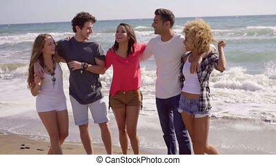 Young People On The Beach - Group of young attractive people...