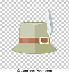Hunter Hat Isolated on Checkered Background - Summer hat...