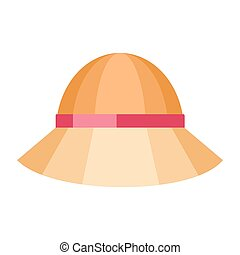 Summer Hat Isolated on White Background - Summer hat...