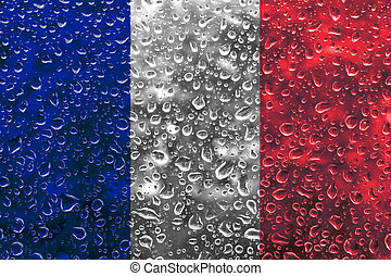 French flag illustration - A French flag raster illustration...