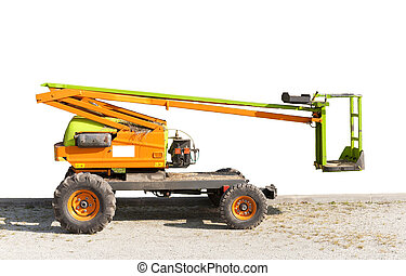Electric crane for tree pruning or other works of high