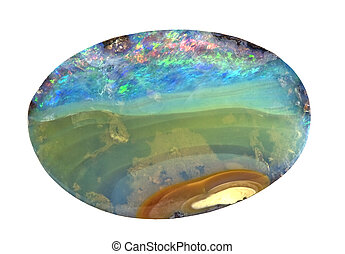 Boulder Opal Specimen from Queensland, Australia - Rough cut...