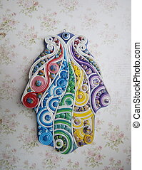 the hand made hamsa - hand-molding khamsa from polymer clay...